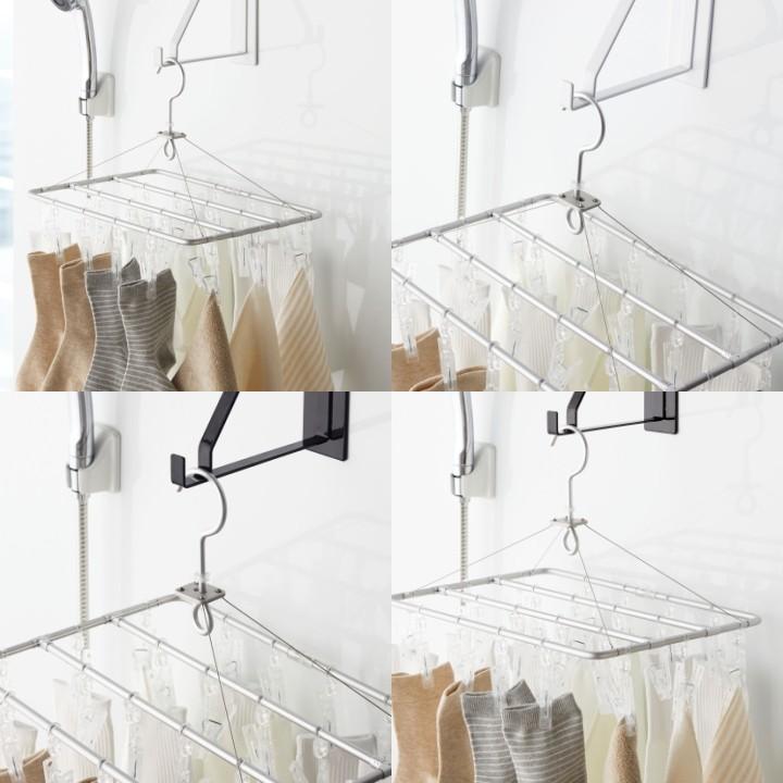 ( マグネットバスルーム 物干しハンガー ) tower タワー マグネット 物干し 洗濯 タワー tower 生活雑貨  ランドリー 洗濯物 シンプル トレー 便利|n-raffine|05