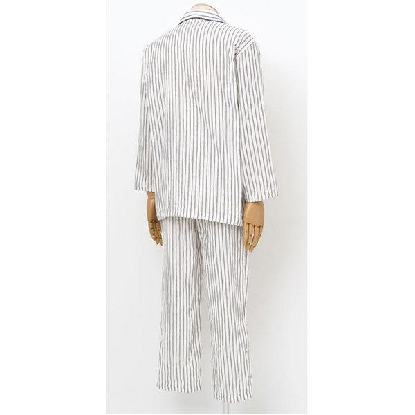 パジャマ メンズ 長袖 ワコール 睡眠科学 二重ガーゼ M・L 前開きタイプ|n-shopping|02