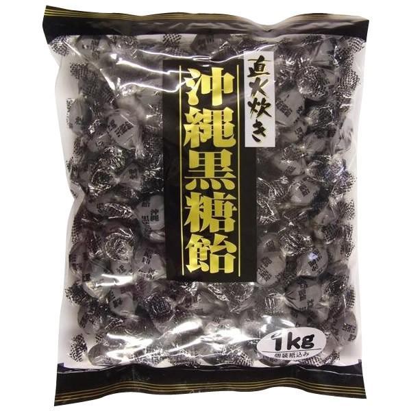 桃太郎製菓 直火炊き 沖縄黒糖飴 1kg×10袋セットき・同梱