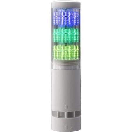 パトライト LA6型積層情報表示灯Φ60 直付ケ・端子台・ブザーアリ LA63DTNWBRYG