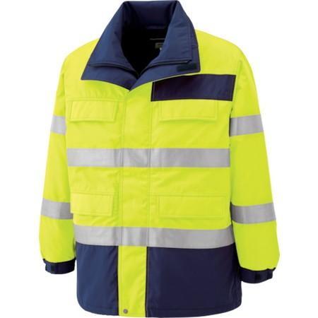 ミドリ安全 高視認性 防水帯電防止防寒コート イエロー LL SE1124UELL