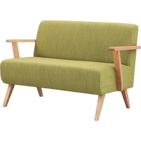 メーカー直送 2人掛け ソファ Moti モティグリーン 幅111cm 天然木 木製 椅子 イス いす ソファ ソファー おしゃれ 人気 おすすめ