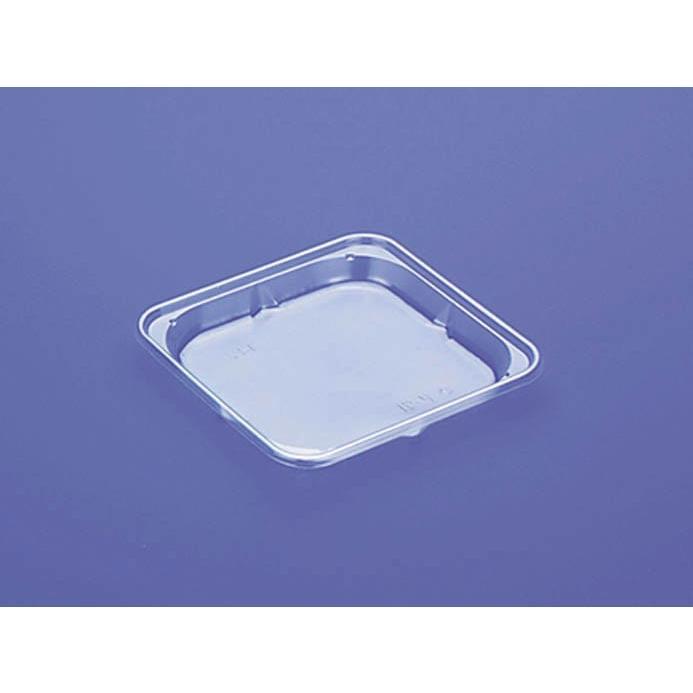 青果用 プラスチック トレー TQ-14VN 透明 3,000枚 長辺13×短辺13×高さ1.6cm − − − デンカポリマー cc2