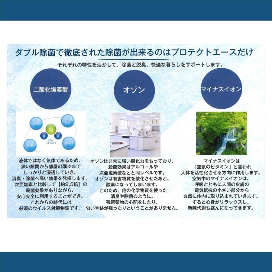 プロテクトエース 【業務用】 二酸化塩素 オゾン マイナスイオン で安心強力空間除菌 nagamasabaio 03