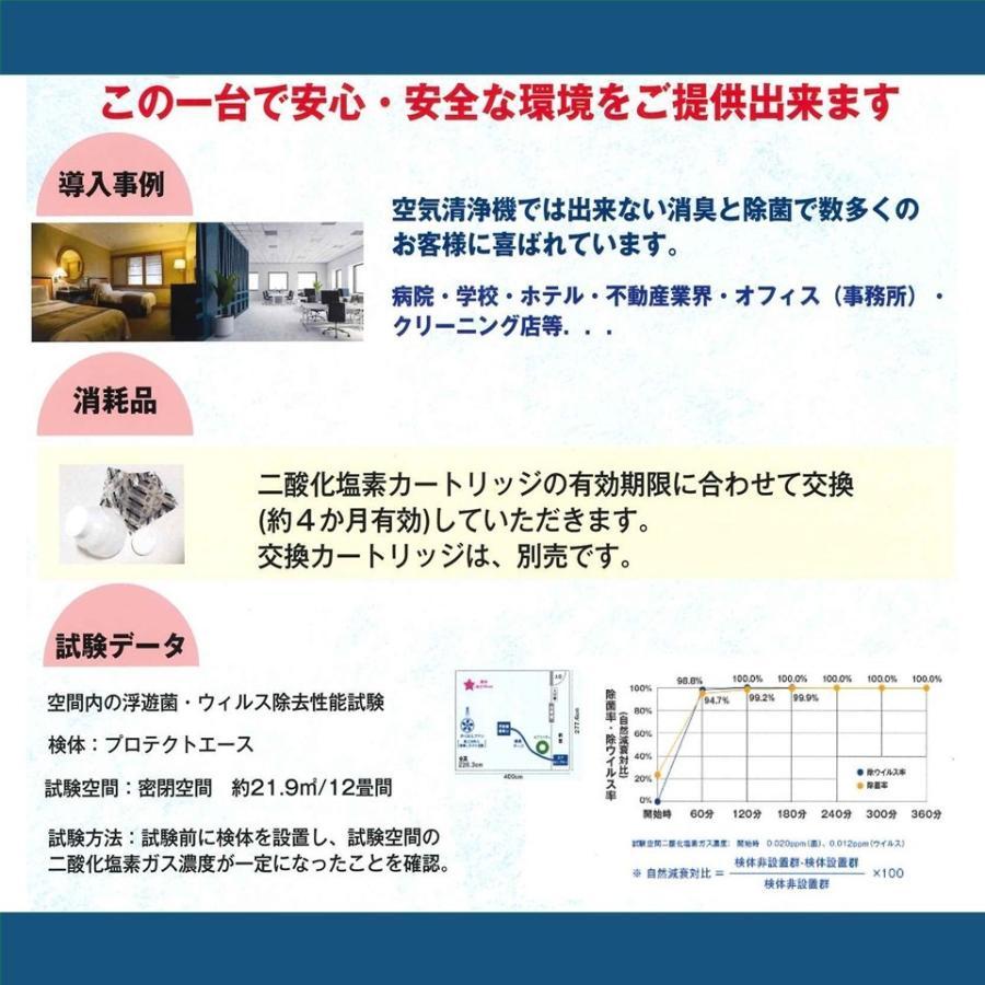 プロテクトエース 【業務用】 二酸化塩素 オゾン マイナスイオン で安心強力空間除菌 nagamasabaio 05