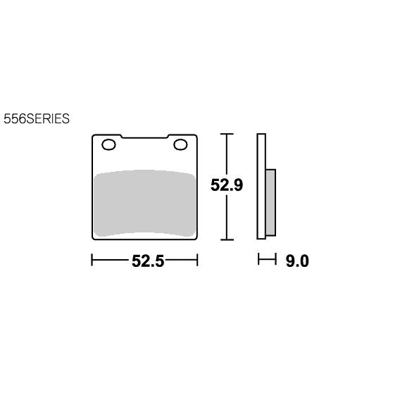 SBS 593HF Brake Pad