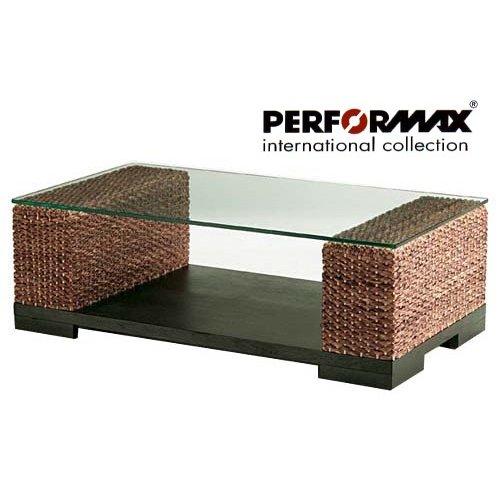 ウォーターヒヤシンス ソファテーブル ローテーブル アジアンテーブル PERFORMAX ガラス天板 受注生産品