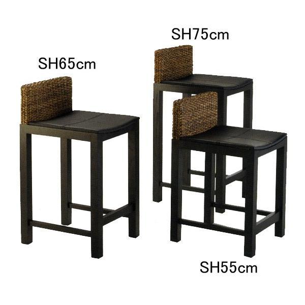 ウォーターヒヤシンス カウンターチェア バースツール SH75cm PERFORMAX アジアン 受注生産品