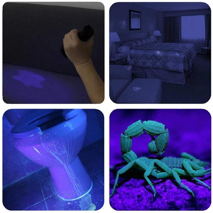 LED UVブラックライト 紫外線ライト 365nm 395nm レジン 硬化 ルアー 汚れ発見 蛍光ペイントの発光 真贋調査|nagomi-company|06