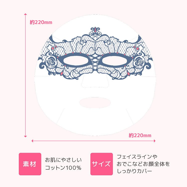 MISAKO AOKI 青木美沙子 フェイスパック LOLITA FACIAL SHEET MASK 10枚入り BOX シートマスク アートマスク 日本製(SSPI) cp1000【SIB】 nailcol 11