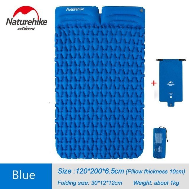 Naturehike キャンプマット 超軽量 タブルマットレス 空気ベッド Blue 2 Inflatable Two Seat