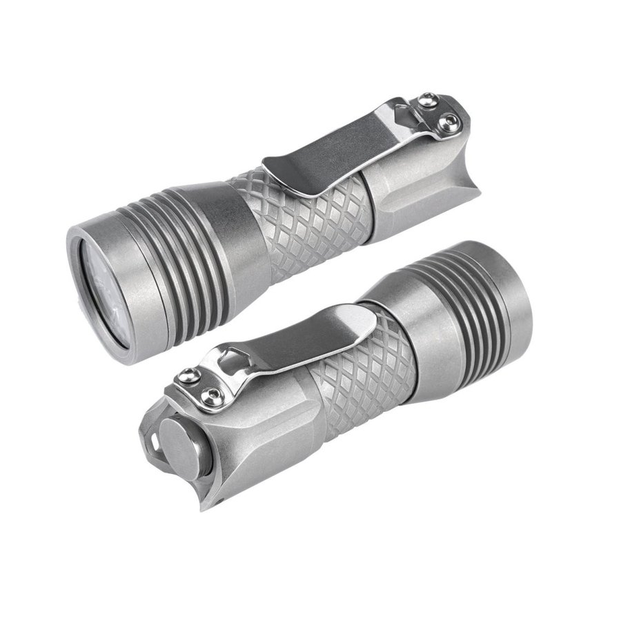 MecArmy PS16ステンレススチール超明るい懐中電灯、4 Cree XP-G2 LEDを備えた2000ルーメン超長持ちするUSB充電式