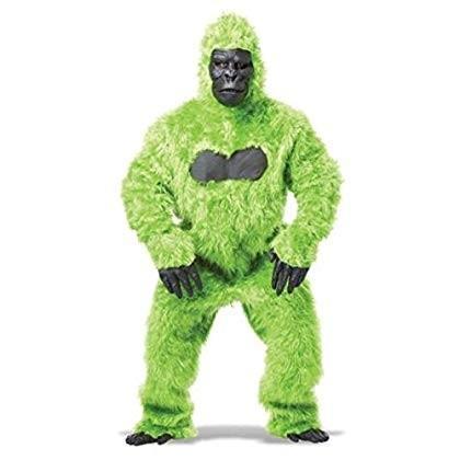 着ぐるみ 動物 ゴリラ 大人用 おしゃれ グリーンゴリラ コスチューム コスプレ 衣装 ハロウィン パーティー 猿 かわいい 緑 もふもふ