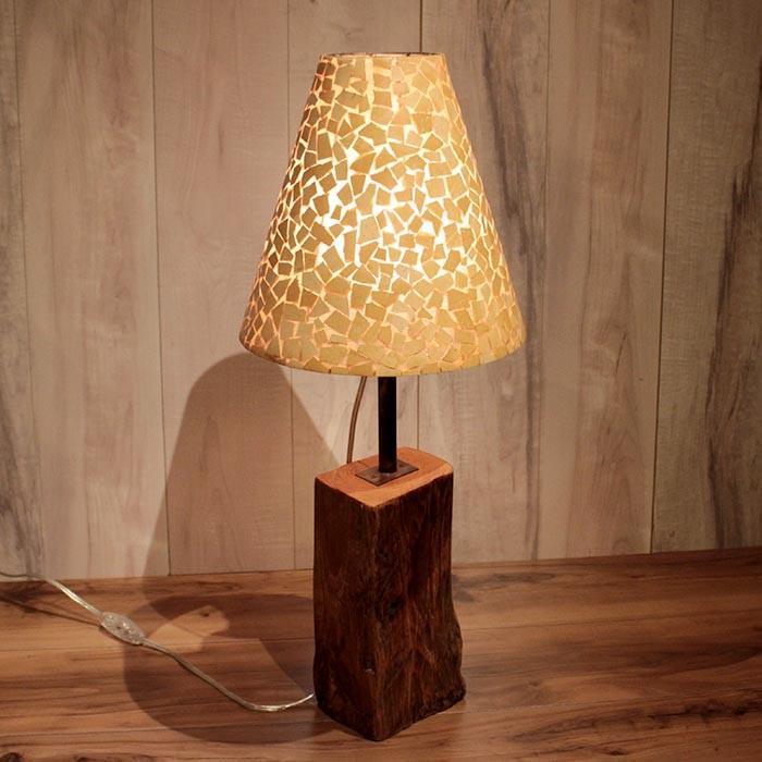 間接照明 古木のインテリアライト 卓上ランプ アンティーク風 スタンド照明