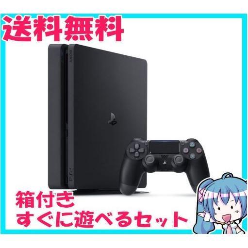 PlayStation 4 ジェット・ブラック 500GB CUH-2000AB01 箱付き  プレステ4 中古