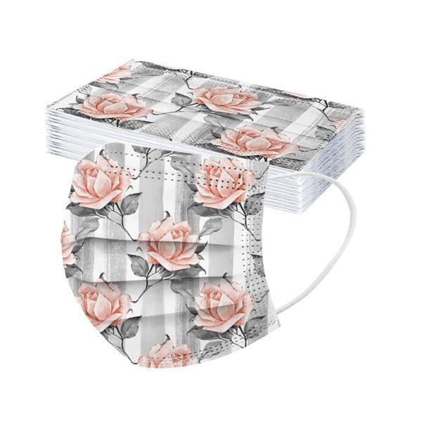 50枚 マスク 花柄 カラー 不織布 柄物 血色 母の日 使い捨て 韓国風 大人用 おしゃれ 可愛い 3層構造 立体 柄入り 防塵 不織布マスク お洒落 大きめ 送料無料|nakashimasutoar|16