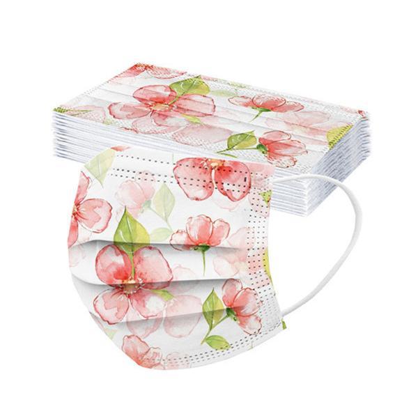 50枚 マスク 花柄 カラー 不織布 柄物 血色 母の日 使い捨て 韓国風 大人用 おしゃれ 可愛い 3層構造 立体 柄入り 防塵 不織布マスク お洒落 大きめ 送料無料|nakashimasutoar|10