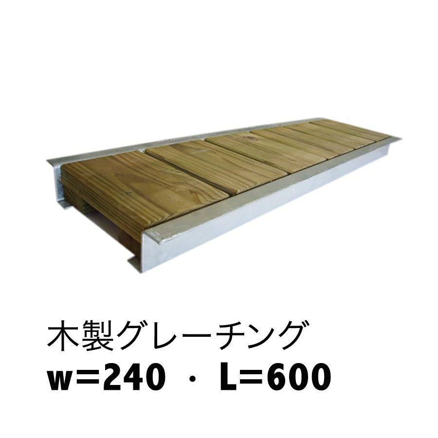 木製グレーチング長さ約600mm・幅約240mm(モスグリーン色:保存処理木材仕様)(側溝蓋/溝蓋/蓋/グレーチング/カバー/U字側溝/溝カバー/国産/杉/天然木)|nakataniweb|08
