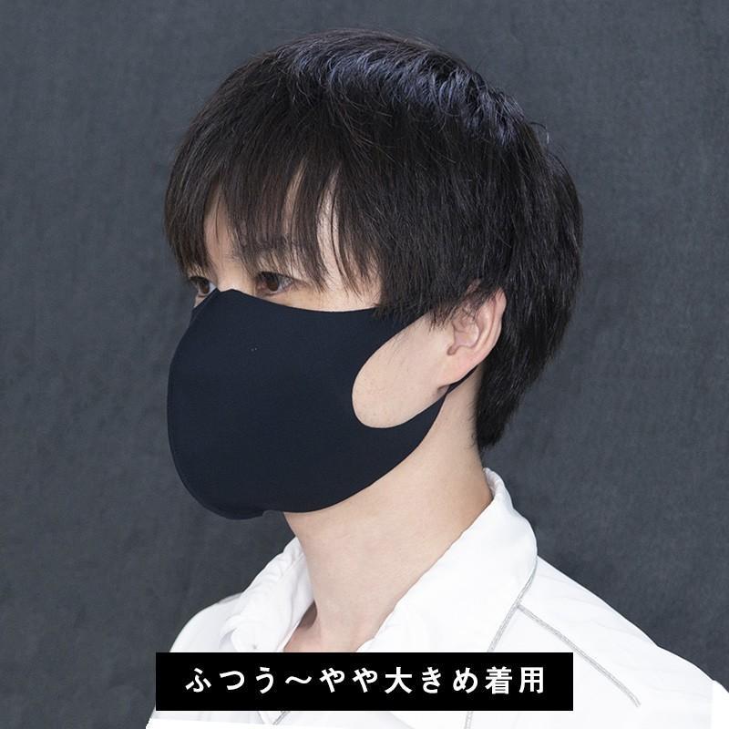 日本製 マスク 紫外線 インナーマスク 二重マスク 就寝 息苦しくない ベージュ ネイビー ブラック 擦れにくい 大きい 中山式 立体ストレッチマスク(2枚組)|nakayama-shiki|12