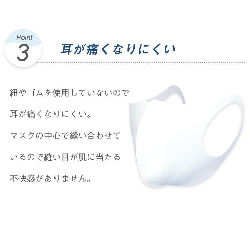 日本製 マスク 紫外線 インナーマスク 二重マスク 就寝 息苦しくない ベージュ ネイビー ブラック 擦れにくい 大きい 中山式 立体ストレッチマスク(2枚組)|nakayama-shiki|05