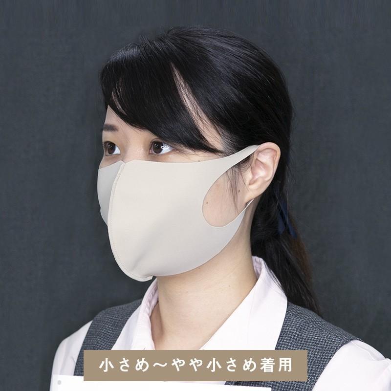 日本製 マスク 紫外線 インナーマスク 二重マスク 就寝 息苦しくない ベージュ ネイビー ブラック 擦れにくい 大きい 中山式 立体ストレッチマスク(2枚組)|nakayama-shiki|10