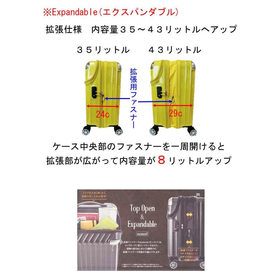 トップオープン ジッパーハードキャリー拡張型S48cm機内持込可3・4kg35〜43リットル20290 Expandable TRAVELIST TSA中国製トラベリスト nakayamakaban 03