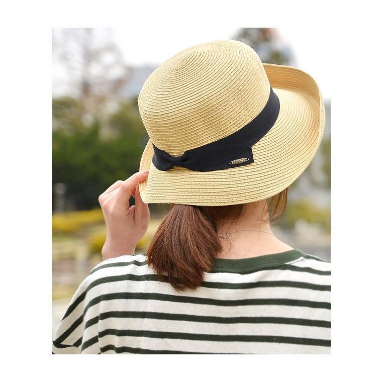 洗濯機で洗える バイザーハット 帽子 ハット レディース 折りたたみ可能 UVカット ハット サンバイザー|nakota|09