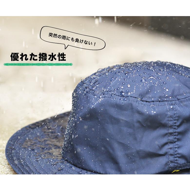 撥水 サファリハット アドベンチャーハット レインハット uv 帽子 大きいサイズ メンズ レディース 紫外線 アウトドア カジュアル 登山 キャンプ 春 夏|nakota|02