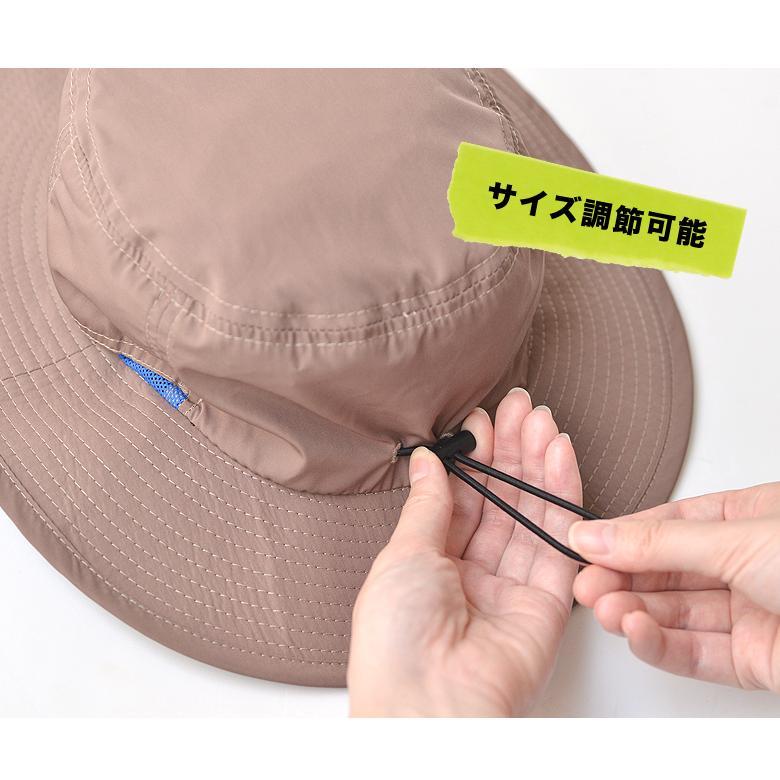 撥水 サファリハット アドベンチャーハット レインハット uv 帽子 大きいサイズ メンズ レディース 紫外線 アウトドア カジュアル 登山 キャンプ 春 夏|nakota|05