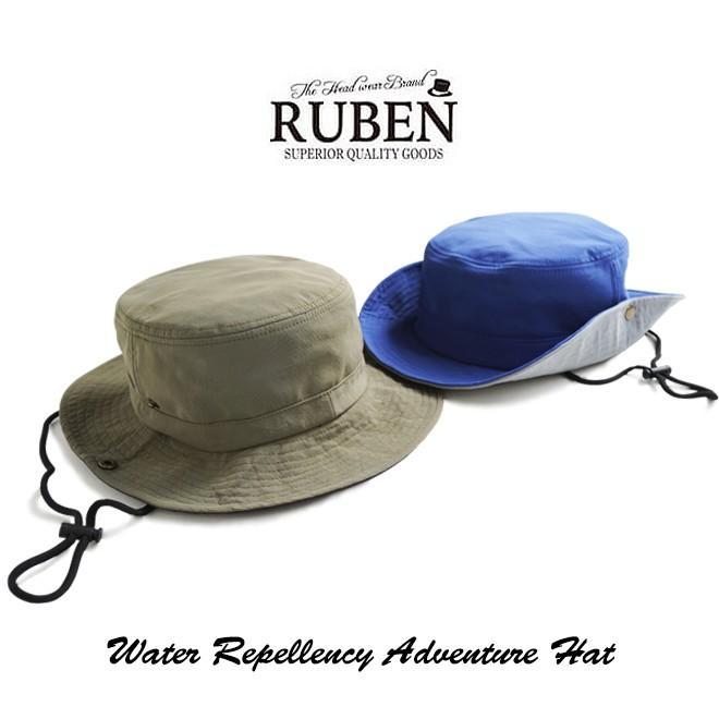 RUBEN ルーベン 撥水 テフロン アドベンチャーハット 帽子 メンズ レディース 防水 顎紐 カラフル シンプル アウトドア サファリハット テンガロンハット nakota 04