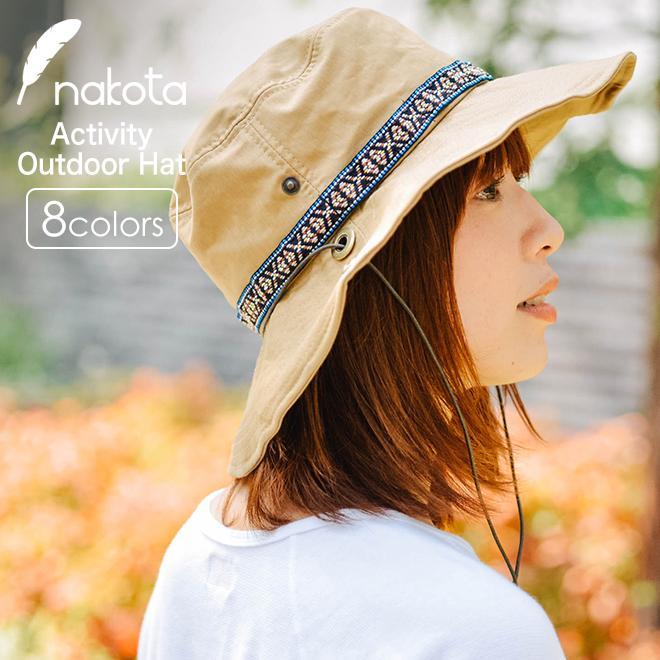 帽子 メンズ レディース Nakota (ナコタ) アクティビティ アウトドア ハット カジュアル ハット サファリハット ドローコード付き UVカット チロリアンテープ|nakota
