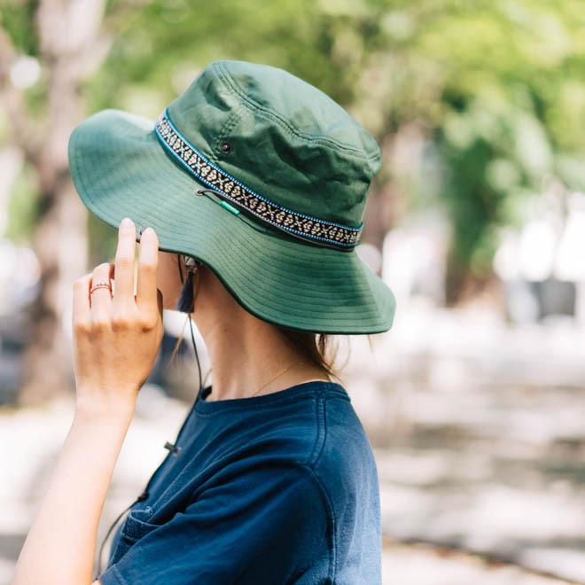 帽子 メンズ レディース Nakota (ナコタ) アクティビティ アウトドア ハット カジュアル ハット サファリハット ドローコード付き UVカット チロリアンテープ|nakota|14