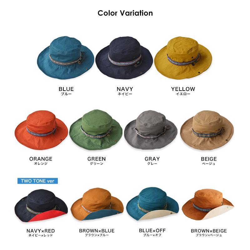 帽子 メンズ レディース Nakota (ナコタ) アクティビティ アウトドア ハット カジュアル ハット サファリハット ドローコード付き UVカット チロリアンテープ|nakota|18