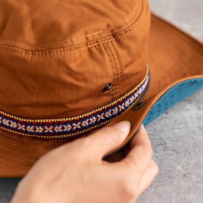 帽子 メンズ レディース Nakota (ナコタ) アクティビティ アウトドア ハット カジュアル ハット サファリハット ドローコード付き UVカット チロリアンテープ|nakota|09
