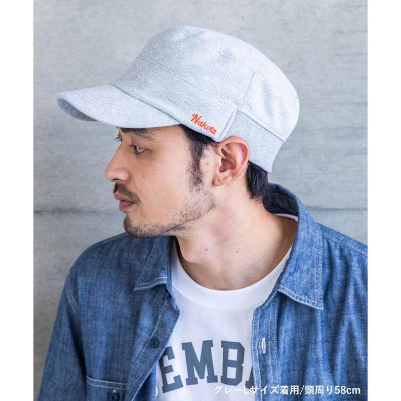 nakota ナコタ スウェットワッフルリブワークキャップ 帽子 大きいサイズ ビックサイズ ゆったり メンズ レディース 釣り キャンプ アウトドア 春 夏 吸水速乾|nakota|02