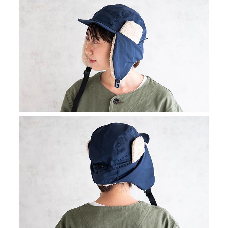 帽子 耳当て付き フライトキャップ メンズ レディース 登山 釣り キャンプ nakota ナコタ 撥水ナイロンフライトキャップ アビエイターキャップ ボア 防寒 冬|nakota|11