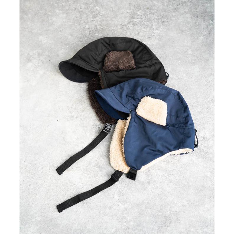 帽子 耳当て付き フライトキャップ メンズ レディース 登山 釣り キャンプ nakota ナコタ 撥水ナイロンフライトキャップ アビエイターキャップ ボア 防寒 冬|nakota|12