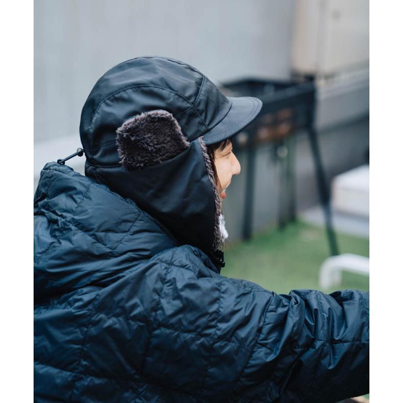帽子 耳当て付き フライトキャップ メンズ レディース 登山 釣り キャンプ nakota ナコタ 撥水ナイロンフライトキャップ アビエイターキャップ ボア 防寒 冬|nakota|07
