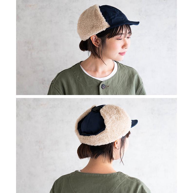 帽子 耳当て付き フライトキャップ メンズ レディース 登山 釣り キャンプ nakota ナコタ 撥水ナイロンフライトキャップ アビエイターキャップ ボア 防寒 冬|nakota|10