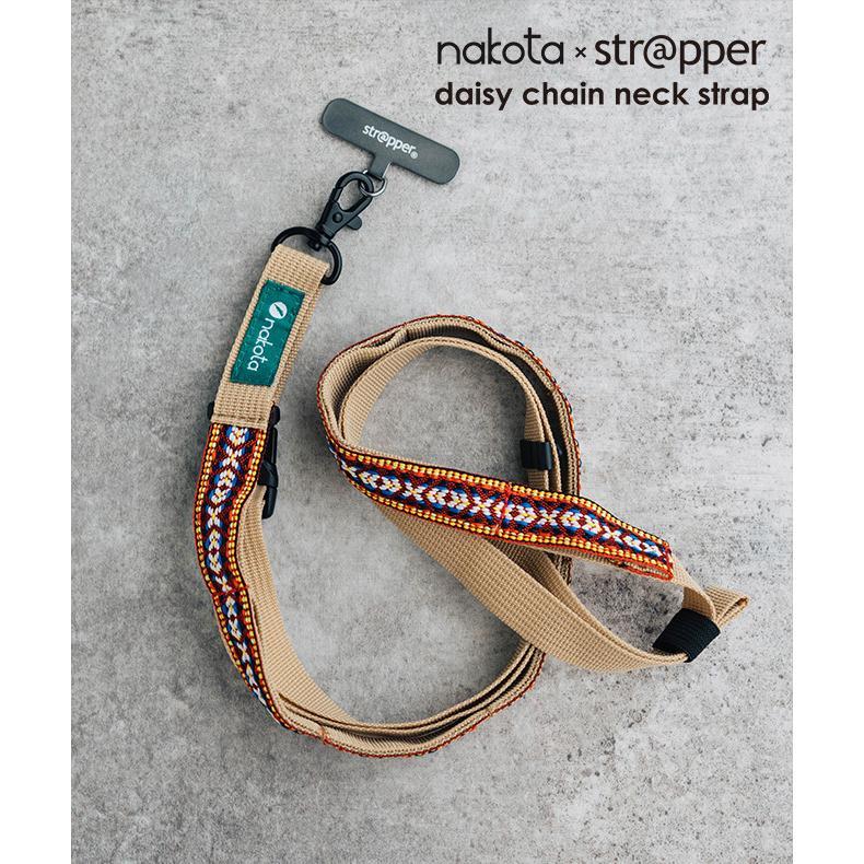 nakota × strapper daisy chain neck strap ナコタ×ストラッパー デイジーチェーンストラップ ネックストラップ 携帯ストラップ 手ぶら 斜め掛け|nakota|04