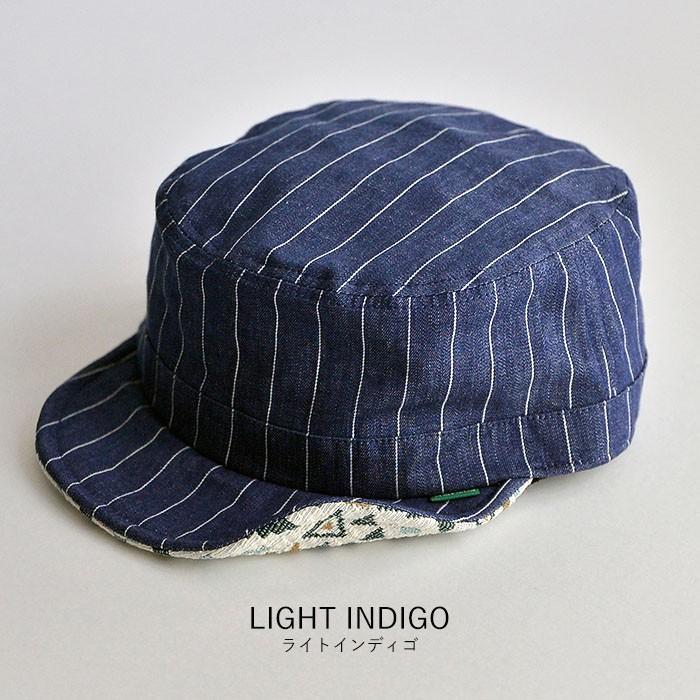 ワークキャップ 帽子 メンズ レディース レールキャップ キャップ 大きいサイズ ビックサイズ nakota ナコタ アクティビティ デニム ストライプ プレゼント|nakota|14