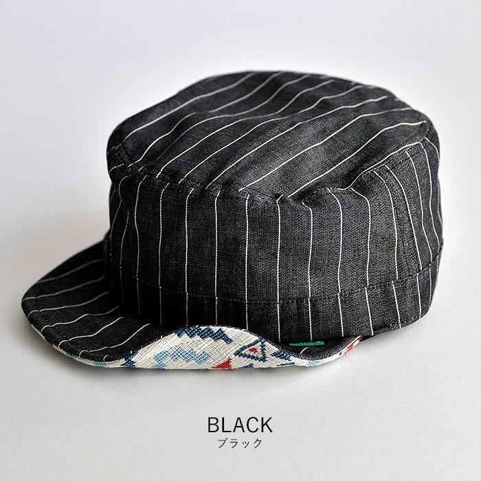 ワークキャップ 帽子 メンズ レディース レールキャップ キャップ 大きいサイズ ビックサイズ nakota ナコタ アクティビティ デニム ストライプ プレゼント|nakota|15