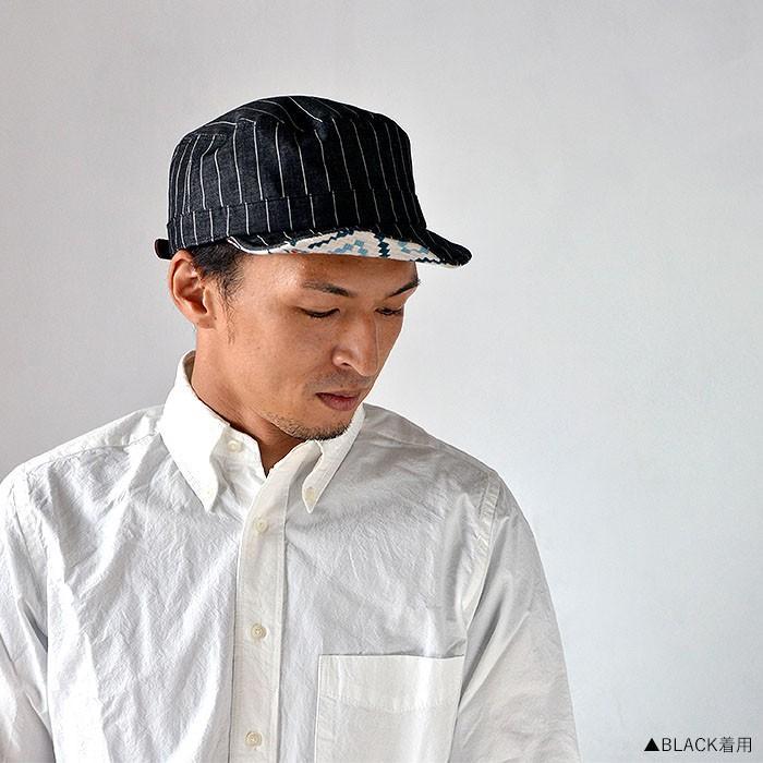 ワークキャップ 帽子 メンズ レディース レールキャップ キャップ 大きいサイズ ビックサイズ nakota ナコタ アクティビティ デニム ストライプ プレゼント|nakota|03