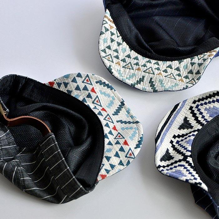 ワークキャップ 帽子 メンズ レディース レールキャップ キャップ 大きいサイズ ビックサイズ nakota ナコタ アクティビティ デニム ストライプ プレゼント|nakota|04