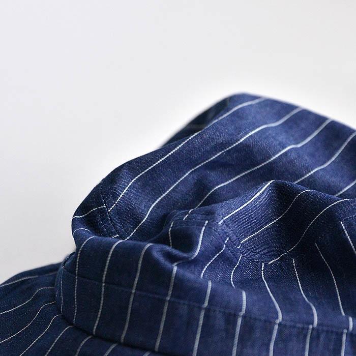 ワークキャップ 帽子 メンズ レディース レールキャップ キャップ 大きいサイズ ビックサイズ nakota ナコタ アクティビティ デニム ストライプ プレゼント|nakota|05