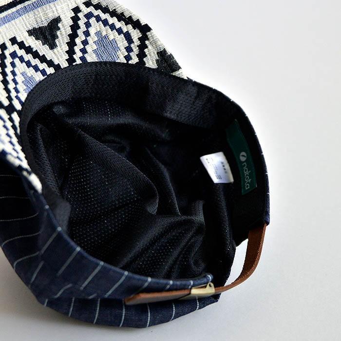 ワークキャップ 帽子 メンズ レディース レールキャップ キャップ 大きいサイズ ビックサイズ nakota ナコタ アクティビティ デニム ストライプ プレゼント|nakota|06