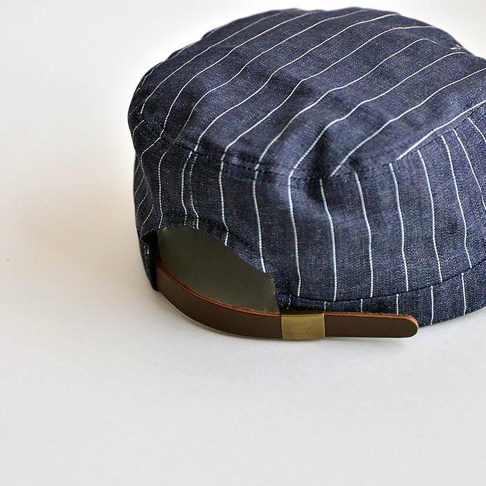 ワークキャップ 帽子 メンズ レディース レールキャップ キャップ 大きいサイズ ビックサイズ nakota ナコタ アクティビティ デニム ストライプ プレゼント|nakota|07