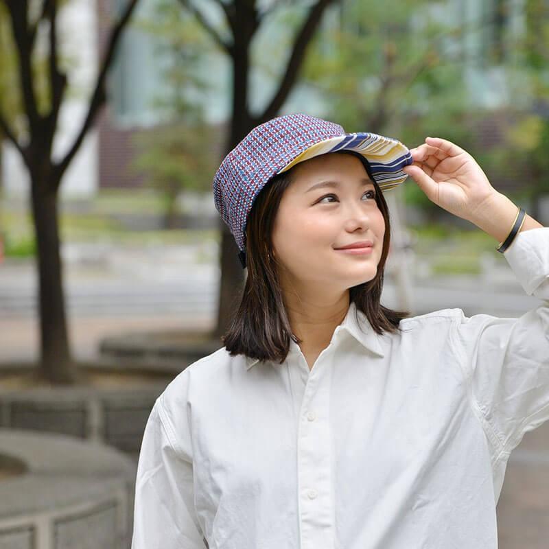 nakota ナコタ HOUNDCHECK ワークキャップ 千鳥格子 帽子 メンズ レディース 大きい 秋 冬 nakota 02