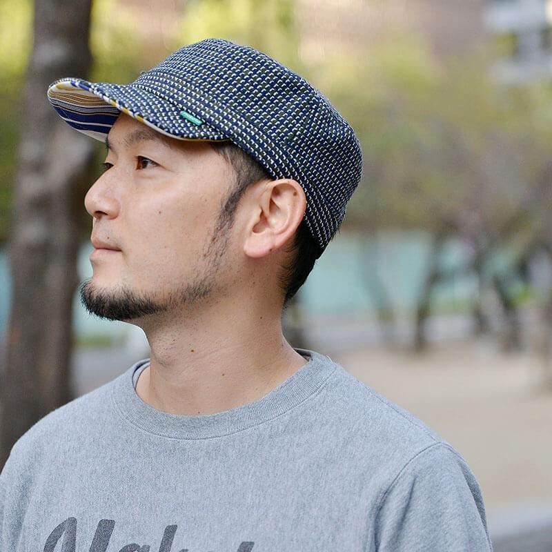 nakota ナコタ HOUNDCHECK ワークキャップ 千鳥格子 帽子 メンズ レディース 大きい 秋 冬 nakota 03