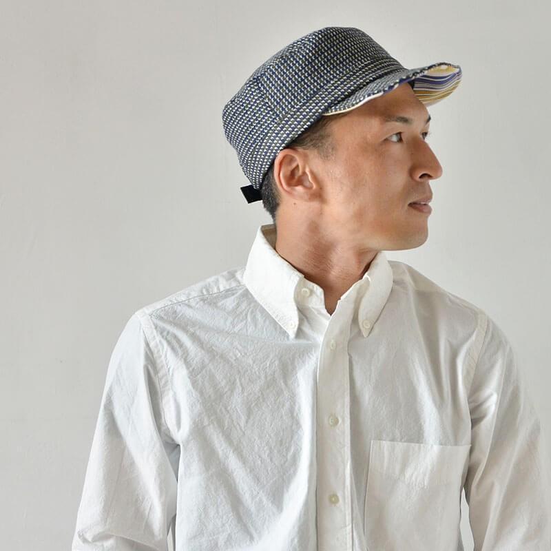 nakota ナコタ HOUNDCHECK ワークキャップ 千鳥格子 帽子 メンズ レディース 大きい 秋 冬 nakota 06